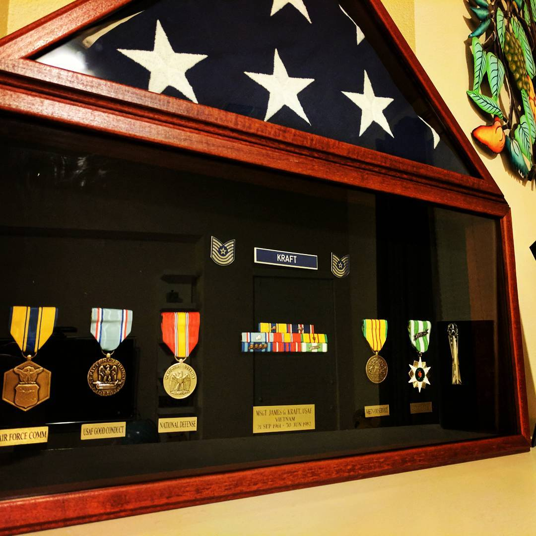 It only took me 20 years to finally put together a flag case and shadow box for my dad. I still miss him